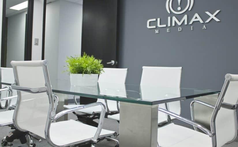 climax media office boardroom design