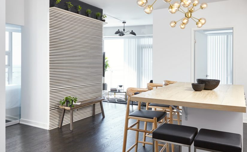 14 York _ wood slats wall, plants natural wood accents airbnb