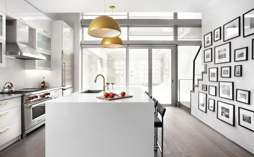 Richmond Street House _ Residential Interior Design _ LUX Design Toronto _ White Kitchen Renovation, Wolf Stove, Gold Fixtures (4)
