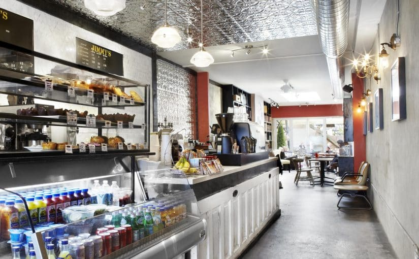 Jimmys Coffee shop design by LUX Design