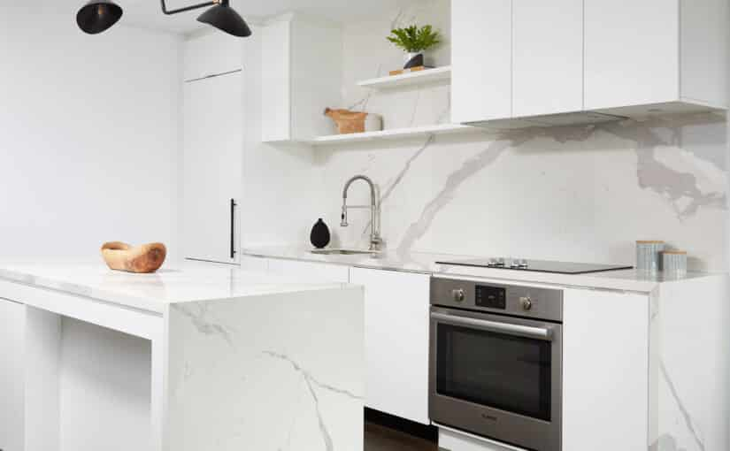 kitchen design white marble